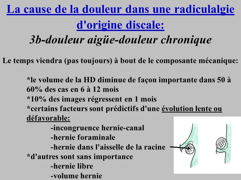 La cause de la douleur dans une radiculalgie d origine discale: 3b-douleur aigüe-douleur chronique