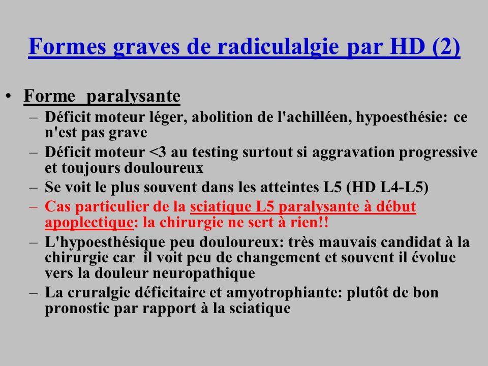 Formes graves de radiculalgie par HD (2)