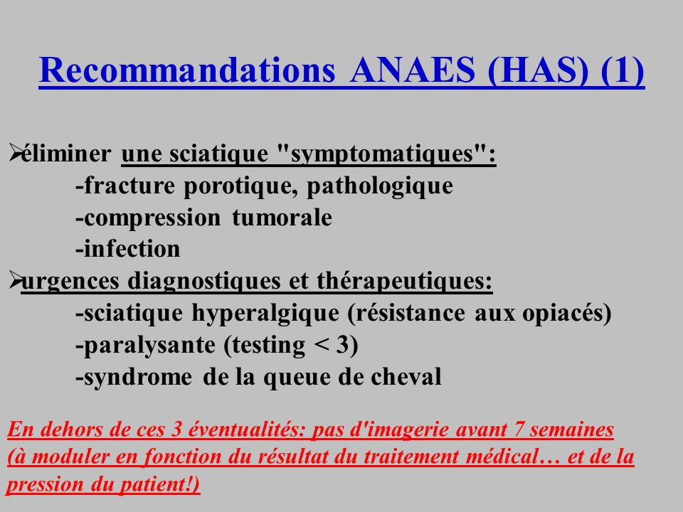 Recommandations ANAES (HAS) (1)