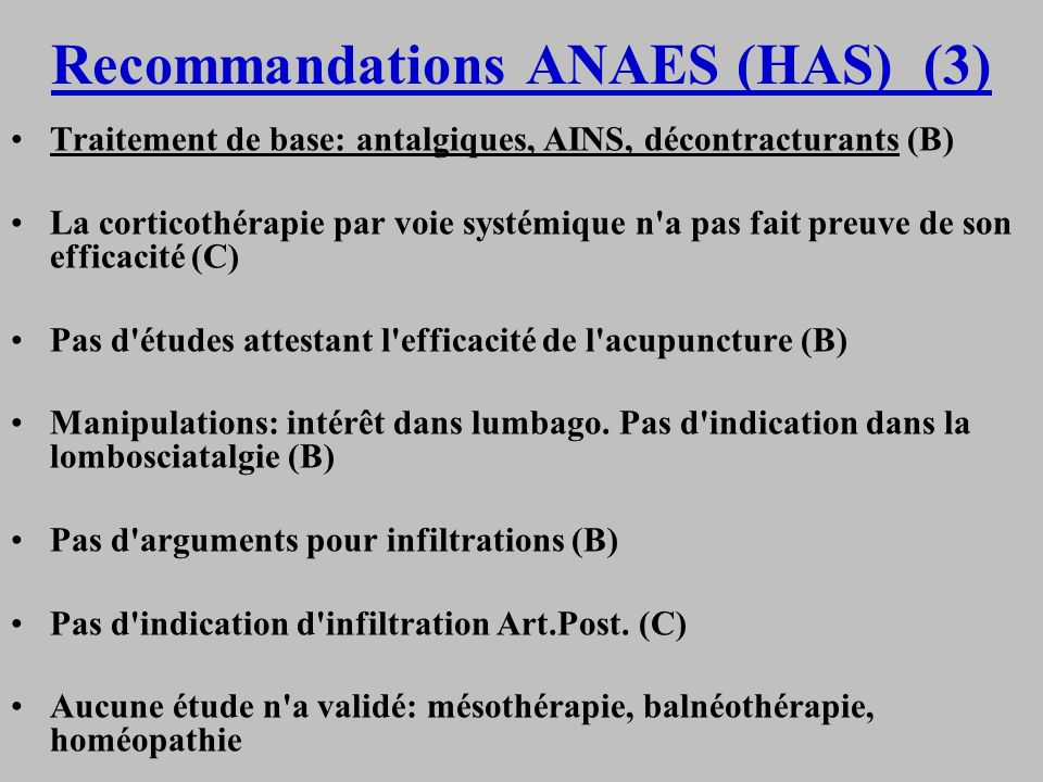 Recommandations ANAES (HAS) (3)