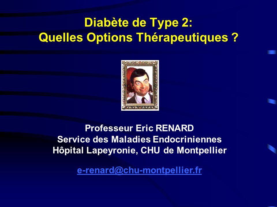 Diabète de Type 2: Quelles Options Thérapeutiques
