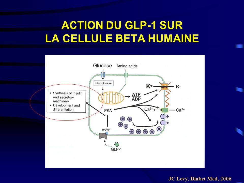 ACTION DU GLP-1 SUR LA CELLULE BETA HUMAINE