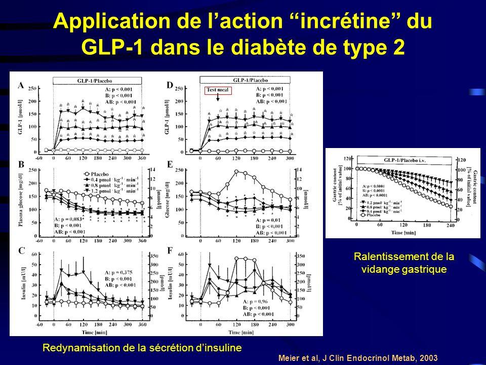 Application de l'action incrétine du GLP-1 dans le diabète de type 2