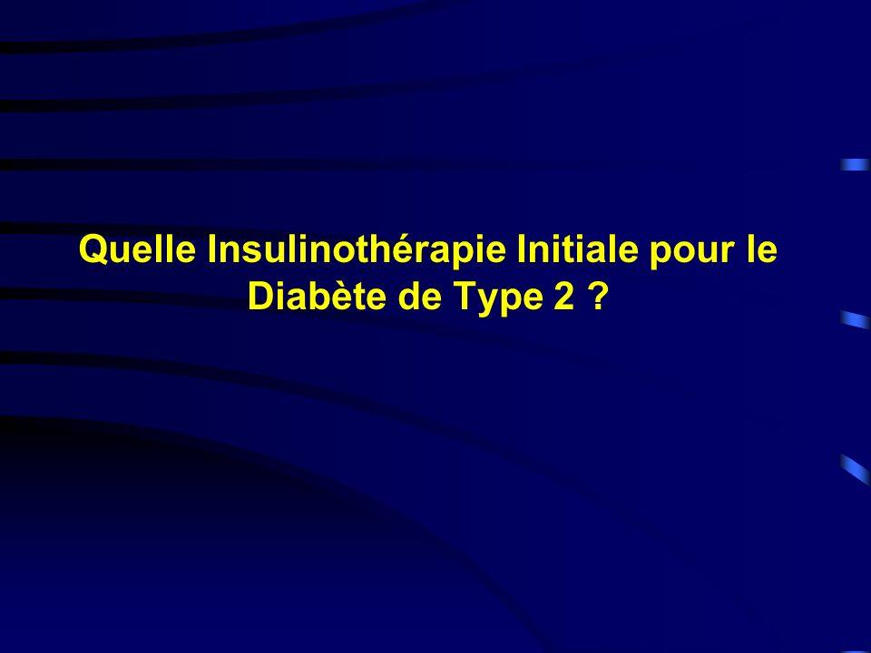 Quelle Insulinothérapie Initiale pour le Diabète de Type 2
