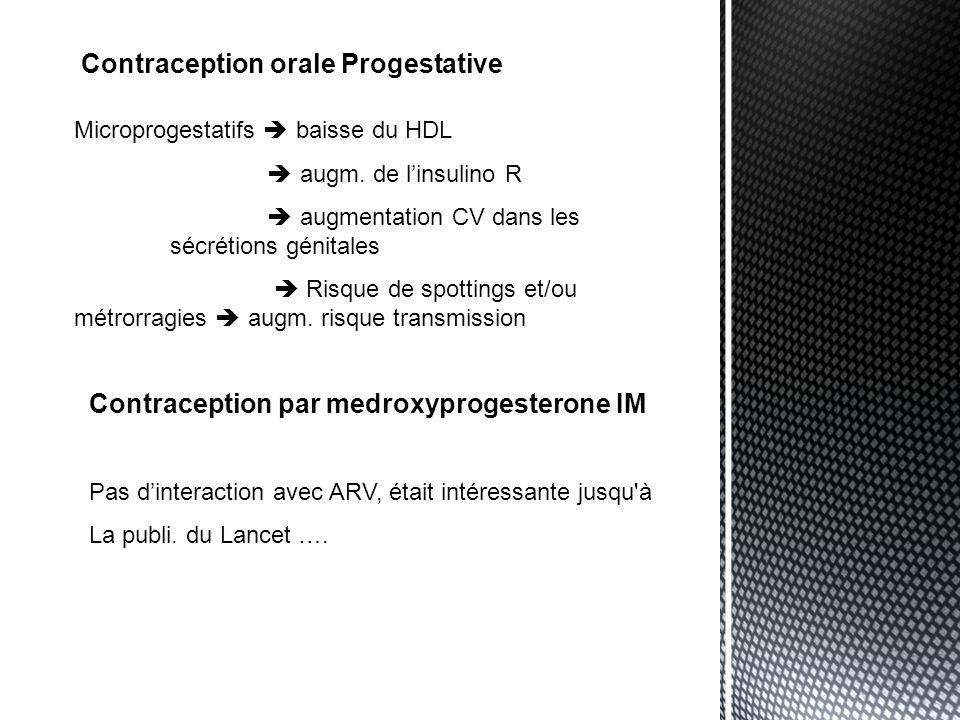 Contraception orale Progestative