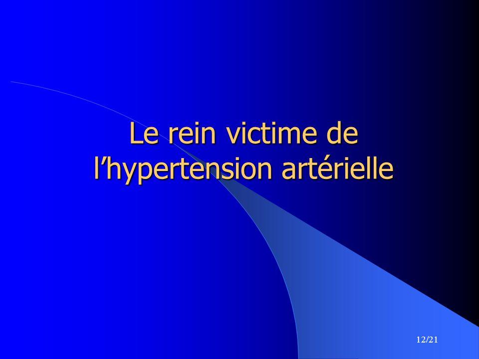 Le rein victime de l'hypertension artérielle