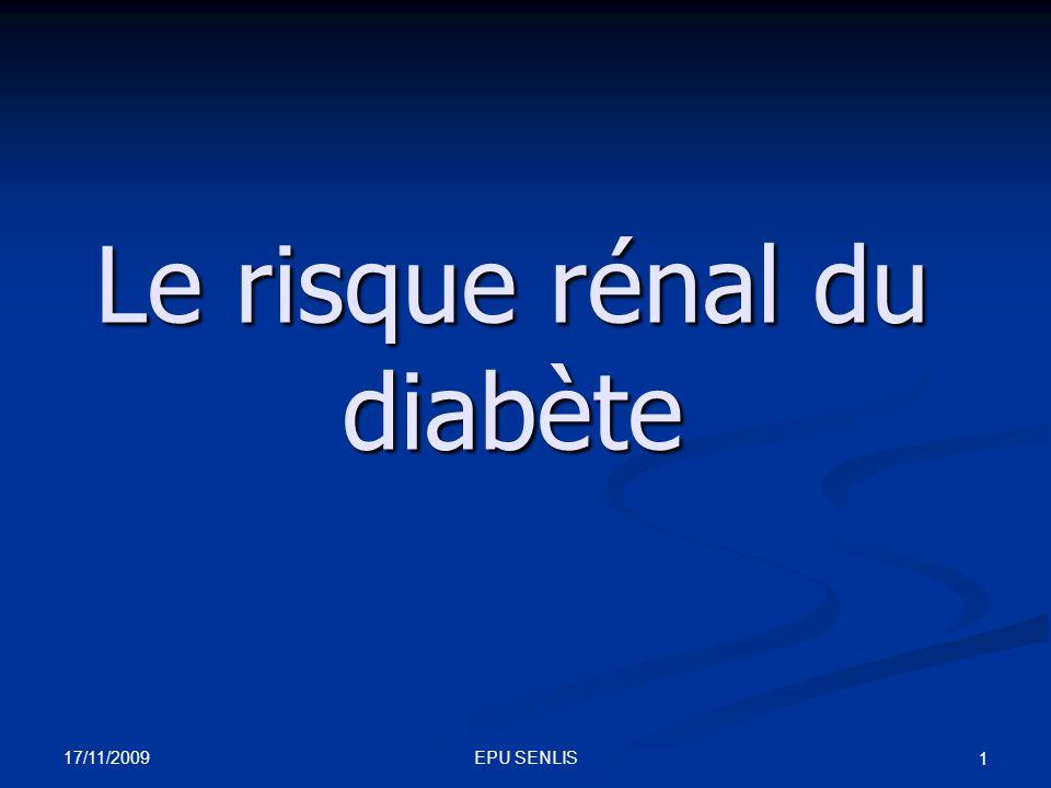 Le risque rénal du diabète