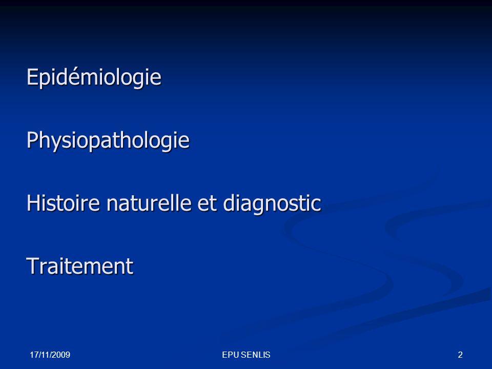 Histoire naturelle et diagnostic Traitement