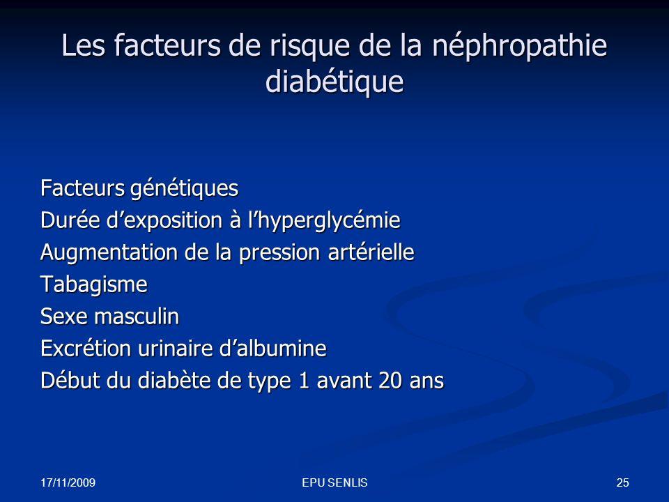 Les facteurs de risque de la néphropathie diabétique