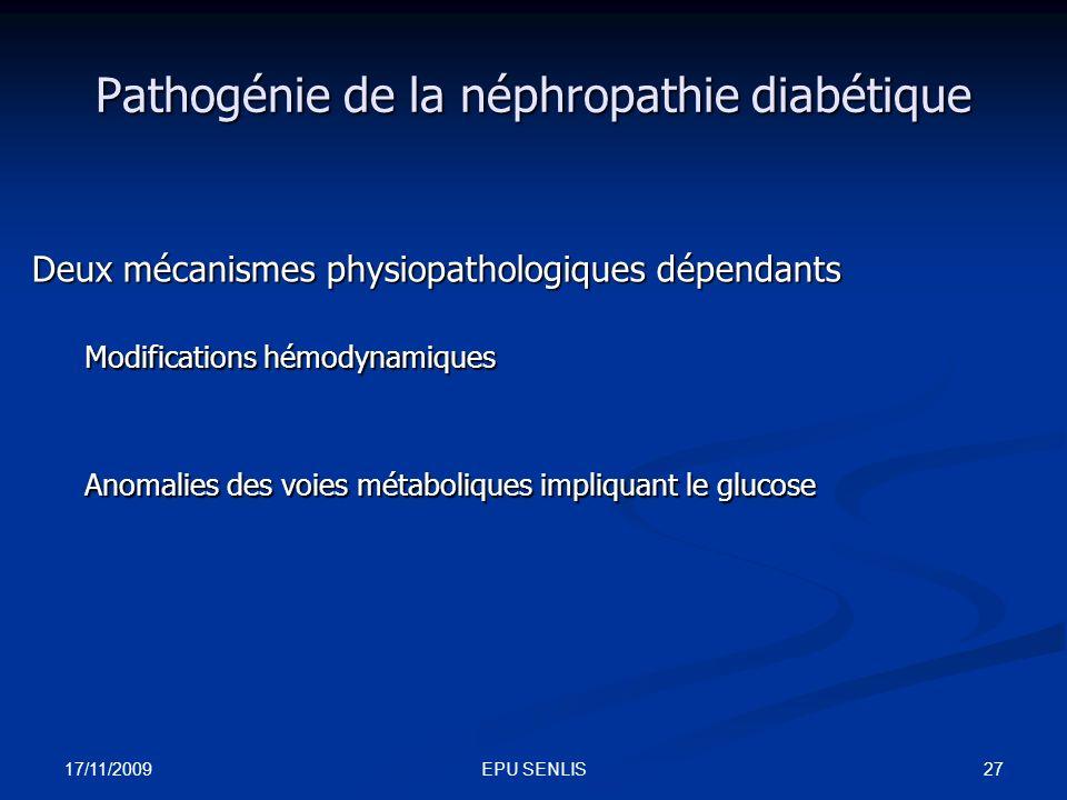 Pathogénie de la néphropathie diabétique