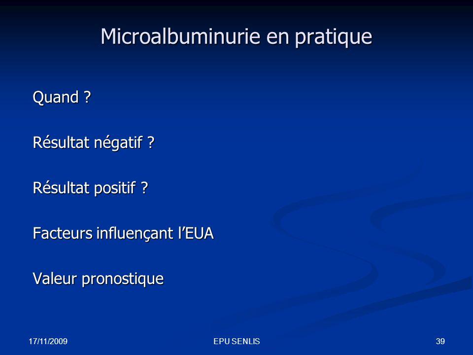 Microalbuminurie en pratique