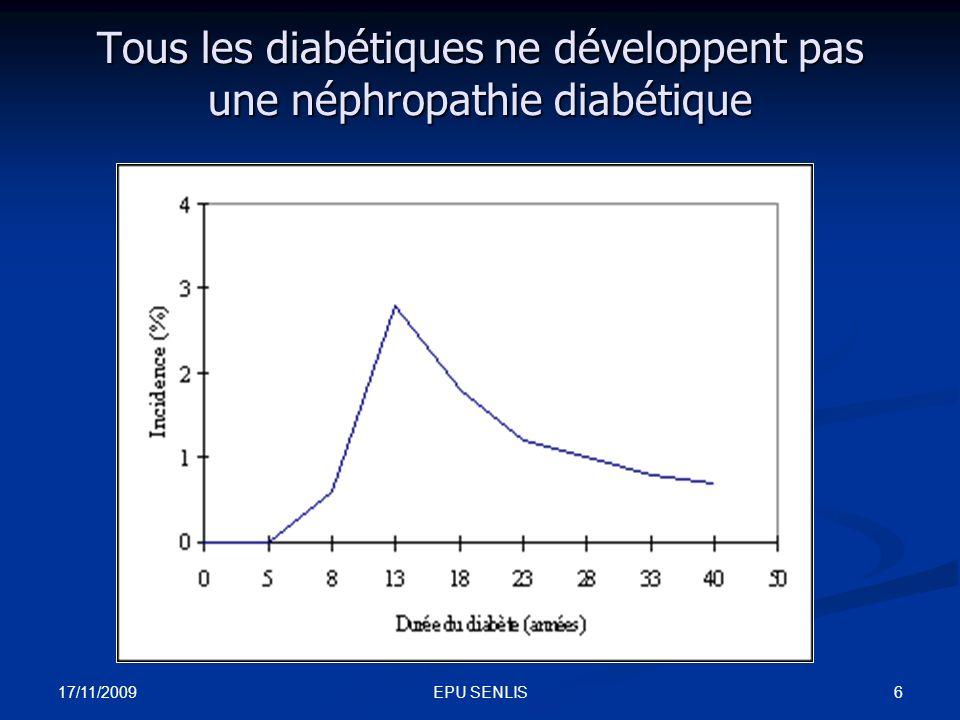 Tous les diabétiques ne développent pas une néphropathie diabétique