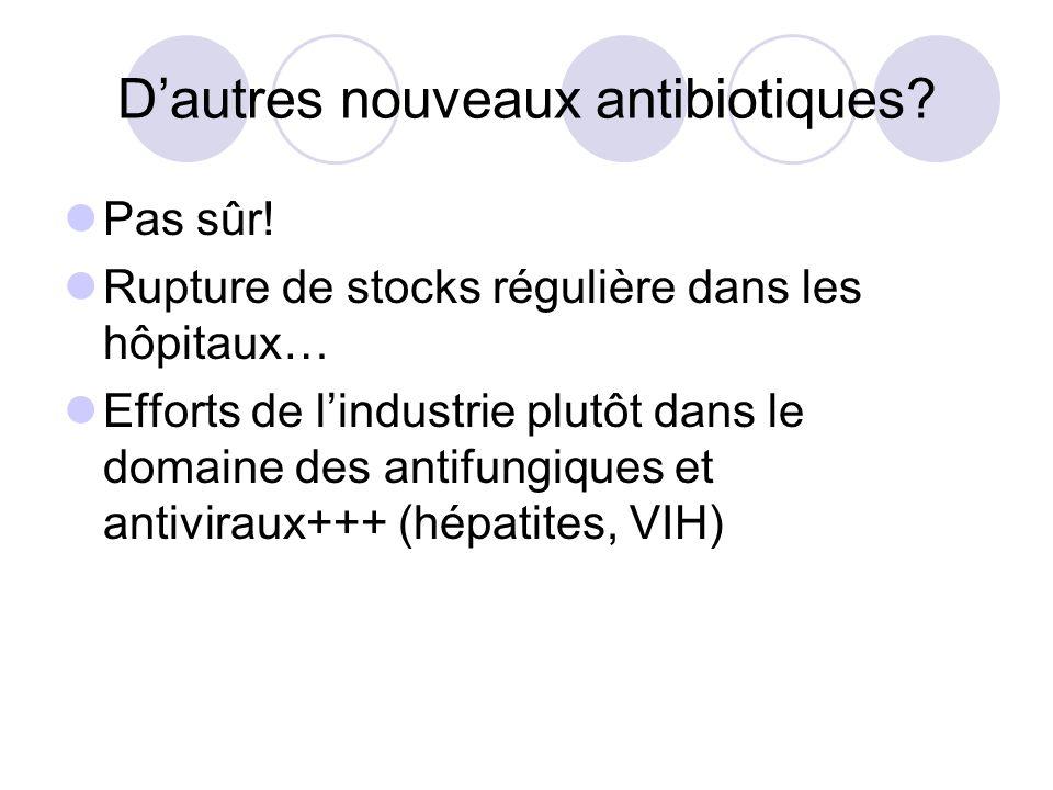 D'autres nouveaux antibiotiques