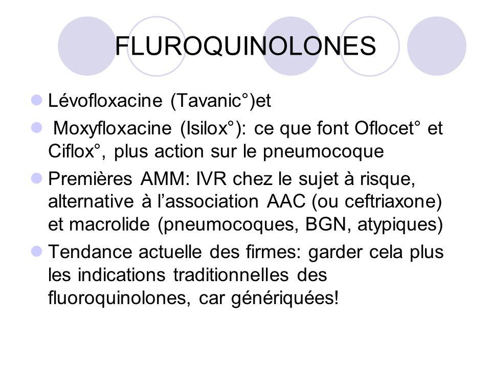 FLUROQUINOLONES Lévofloxacine (Tavanic°)et
