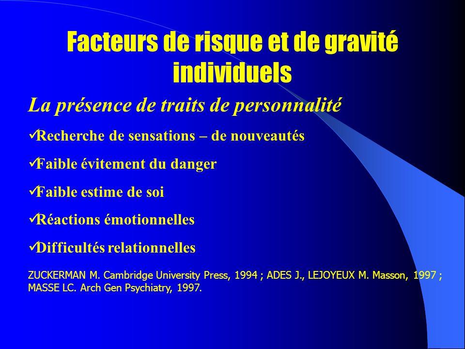 Facteurs de risque et de gravité individuels