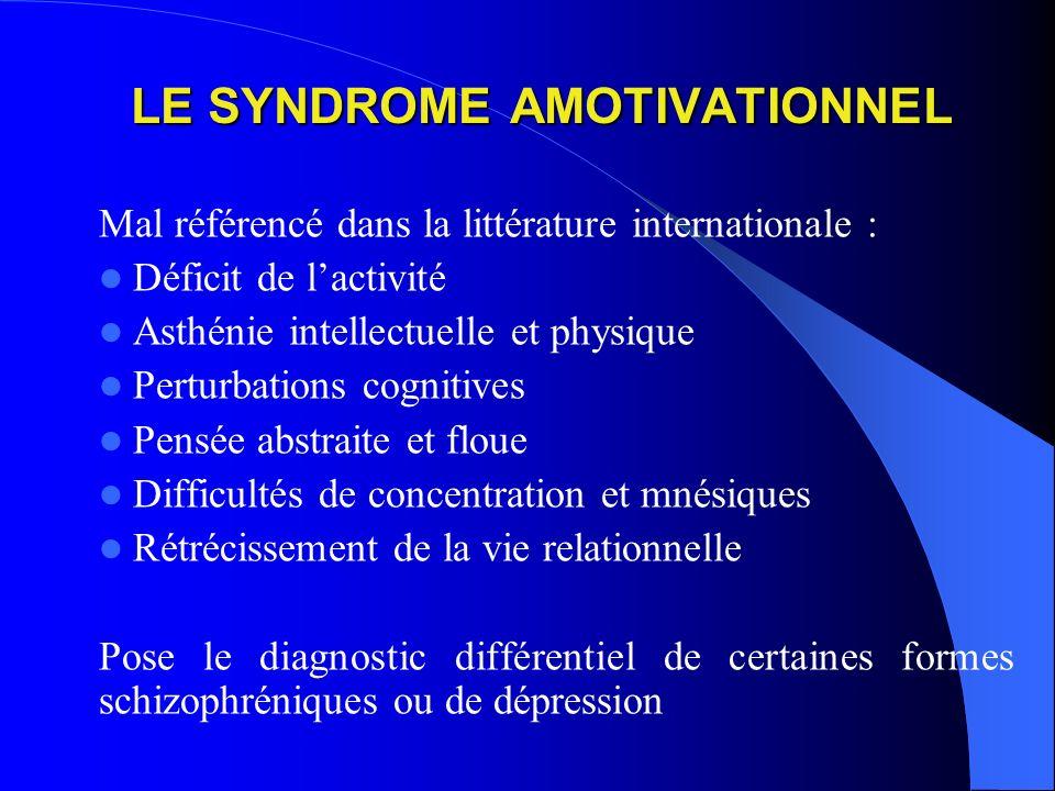 LE SYNDROME AMOTIVATIONNEL