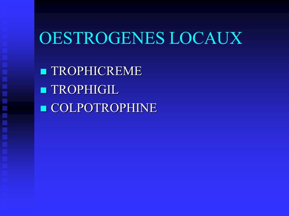 OESTROGENES LOCAUX TROPHICREME TROPHIGIL COLPOTROPHINE