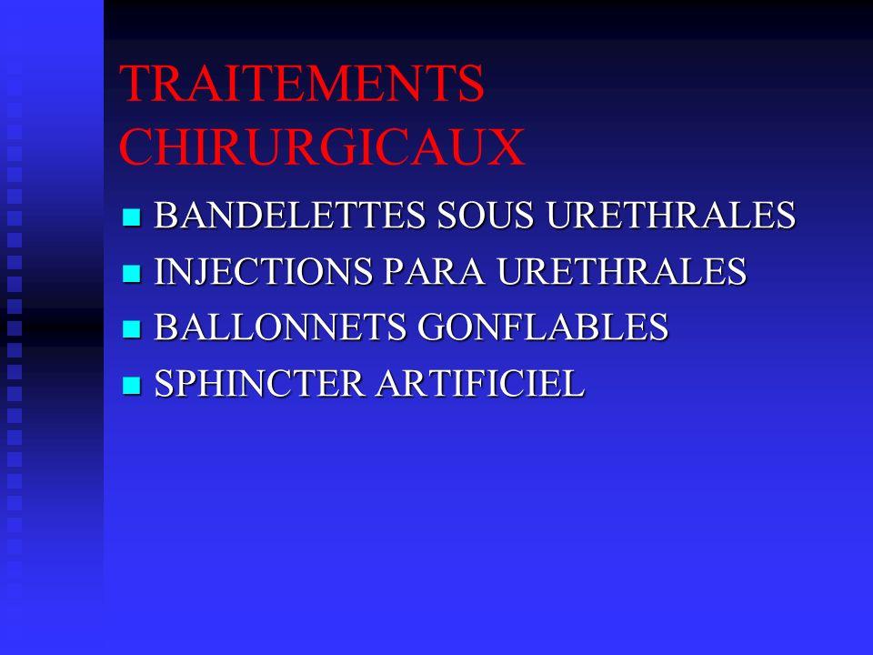 TRAITEMENTS CHIRURGICAUX