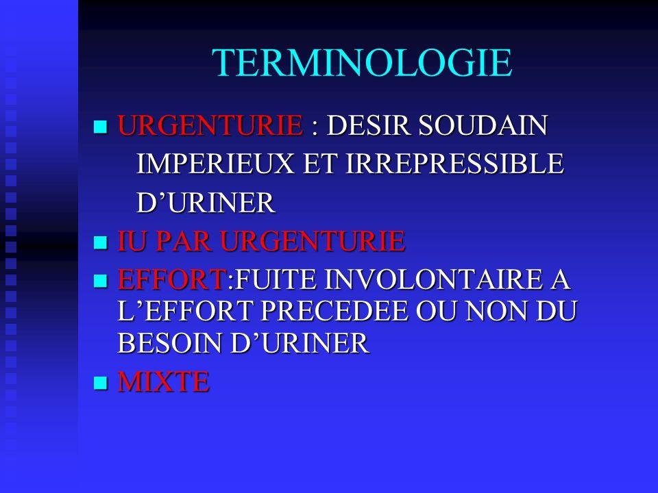 TERMINOLOGIE URGENTURIE : DESIR SOUDAIN IMPERIEUX ET IRREPRESSIBLE