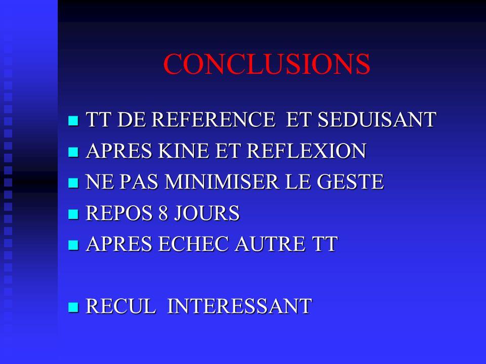 CONCLUSIONS TT DE REFERENCE ET SEDUISANT APRES KINE ET REFLEXION
