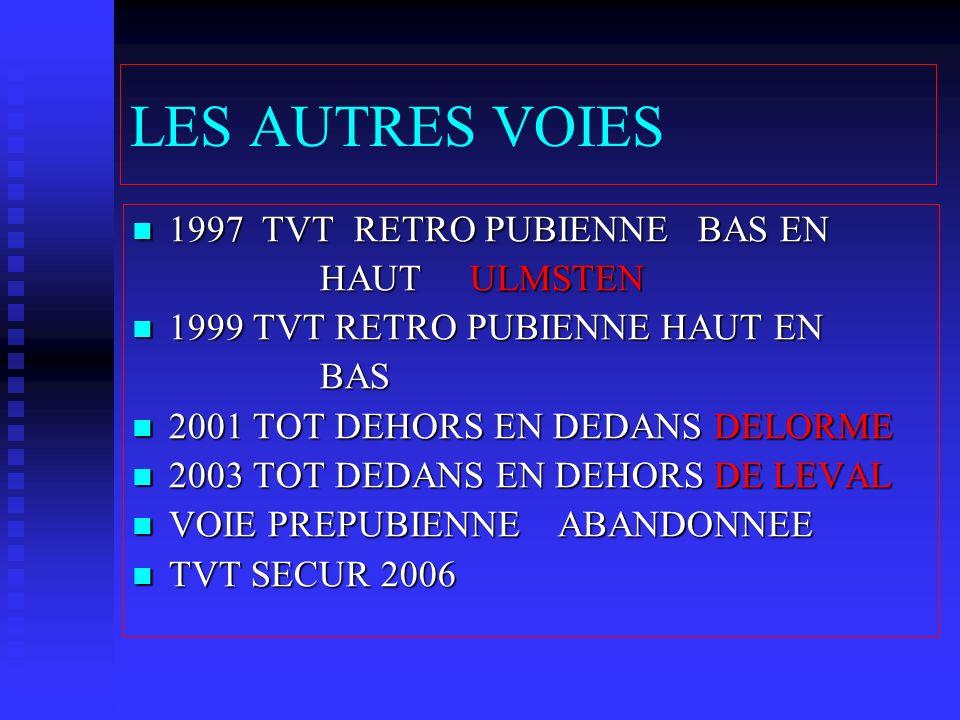 LES AUTRES VOIES 1997 TVT RETRO PUBIENNE BAS EN HAUT ULMSTEN