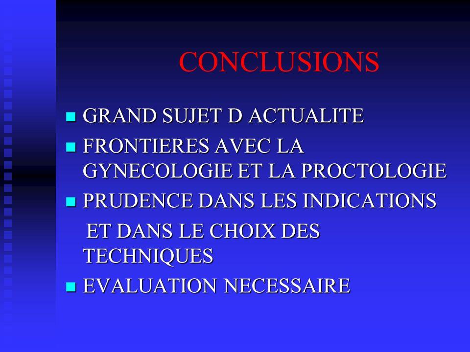 CONCLUSIONS GRAND SUJET D ACTUALITE