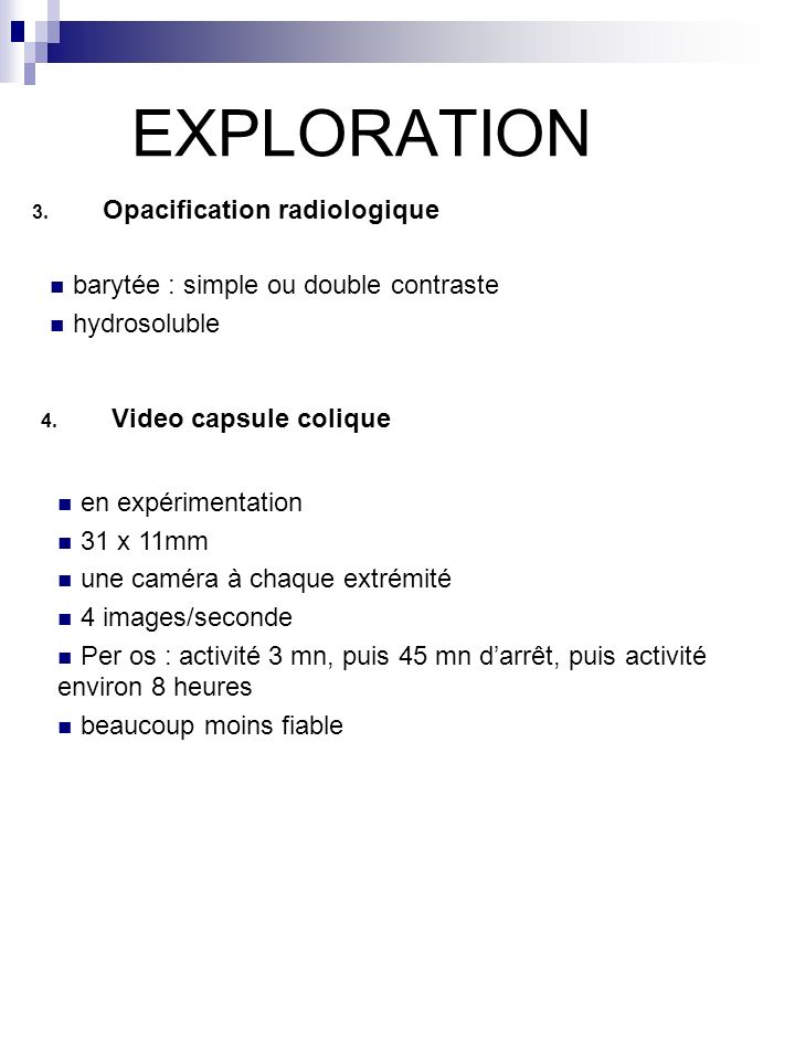 EXPLORATION Opacification radiologique