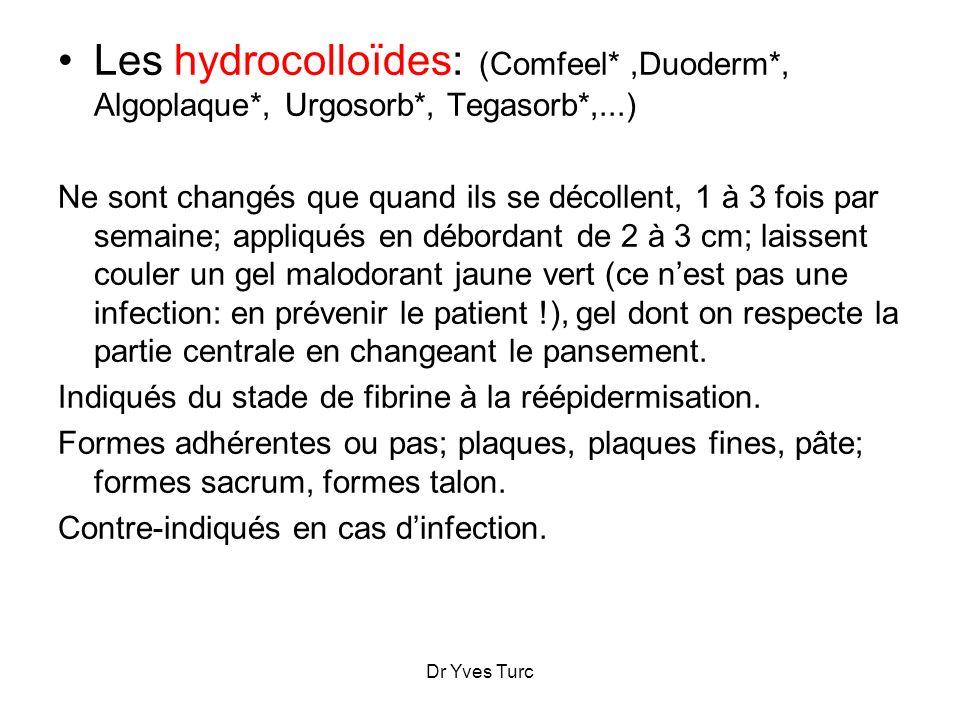 Les hydrocolloïdes: (Comfeel. ,Duoderm. , Algoplaque. , Urgosorb