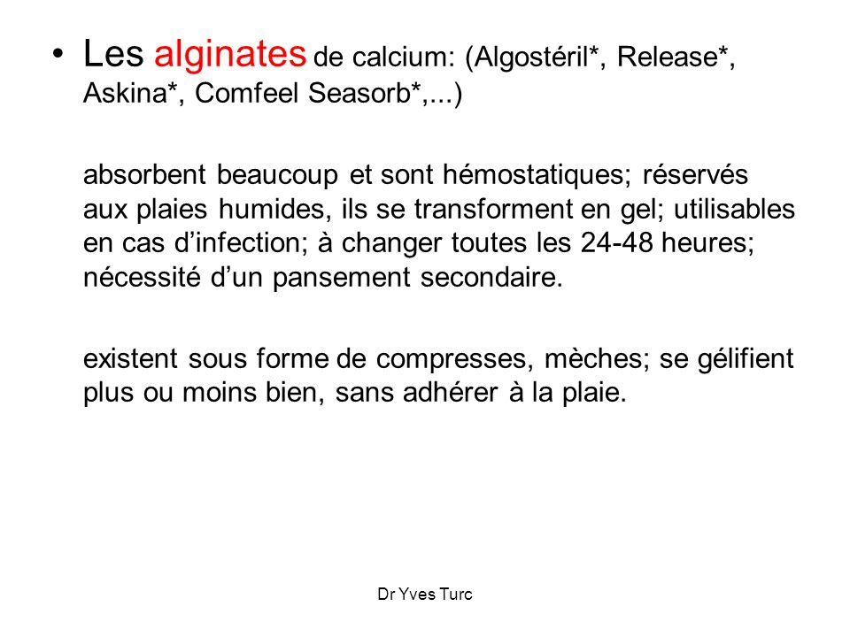Les alginates de calcium: (Algostéril. , Release. , Askina