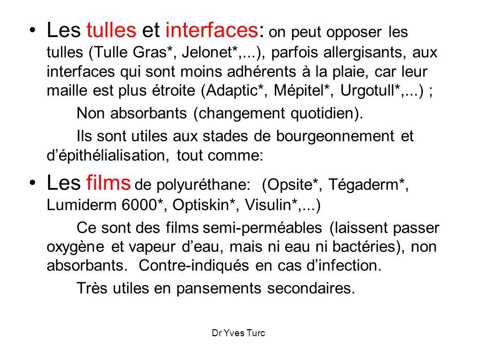 Les tulles et interfaces: on peut opposer les tulles (Tulle Gras