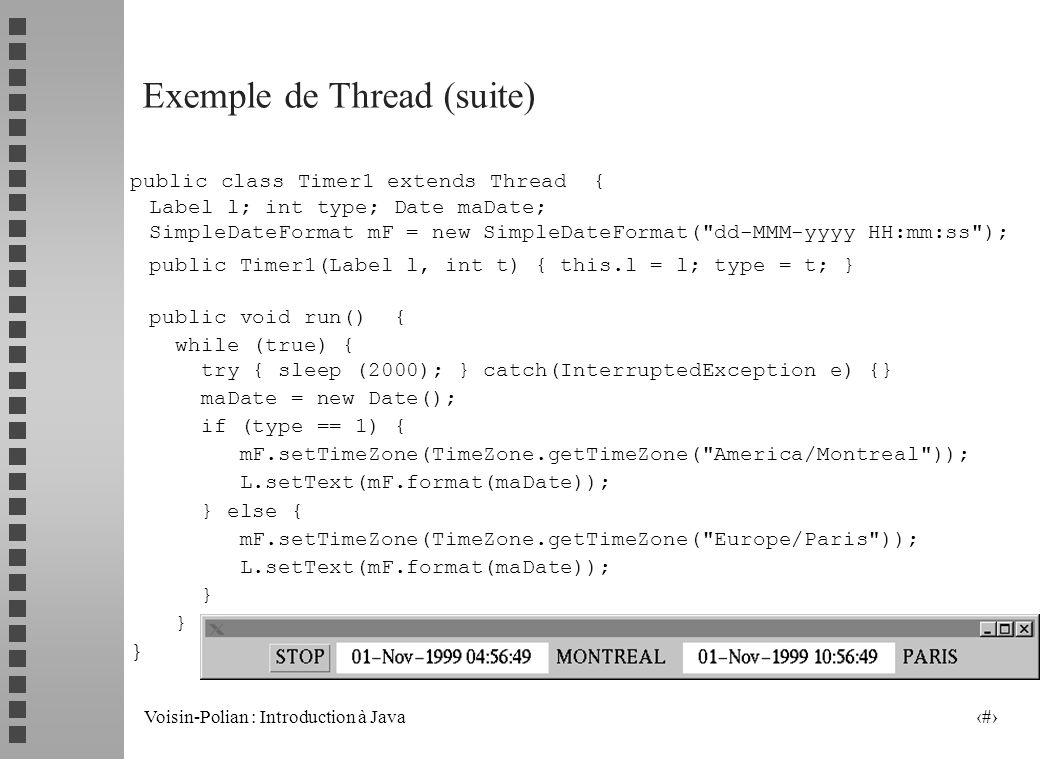 Exemple de Thread (suite)
