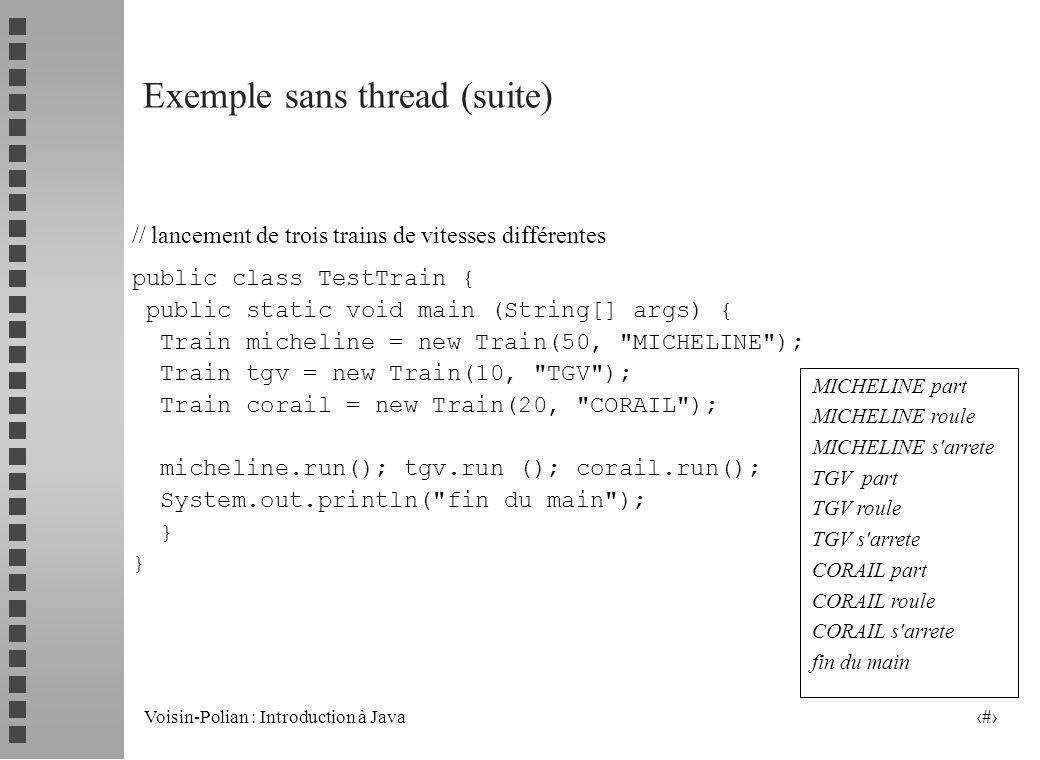 Exemple sans thread (suite)