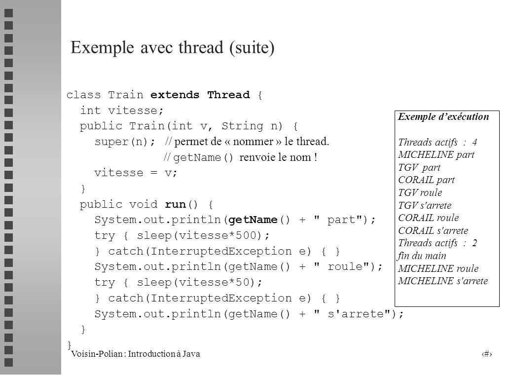 Exemple avec thread (suite)