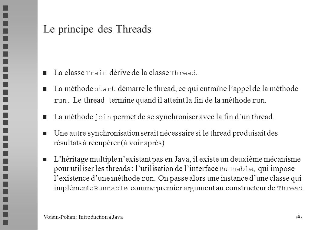 Le principe des Threads