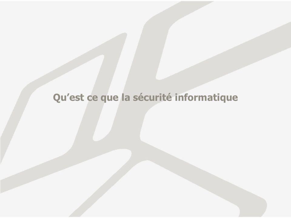 Qu'est ce que la sécurité informatique