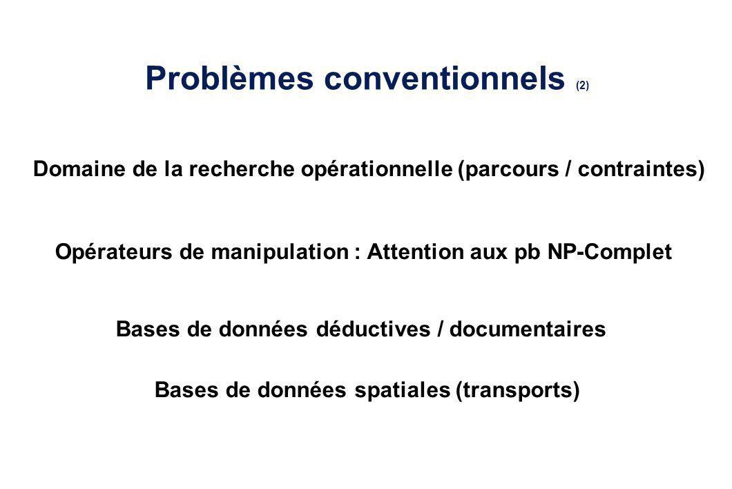 Problèmes conventionnels (2)