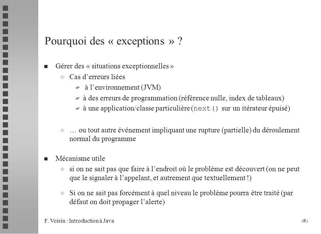 Pourquoi des « exceptions »