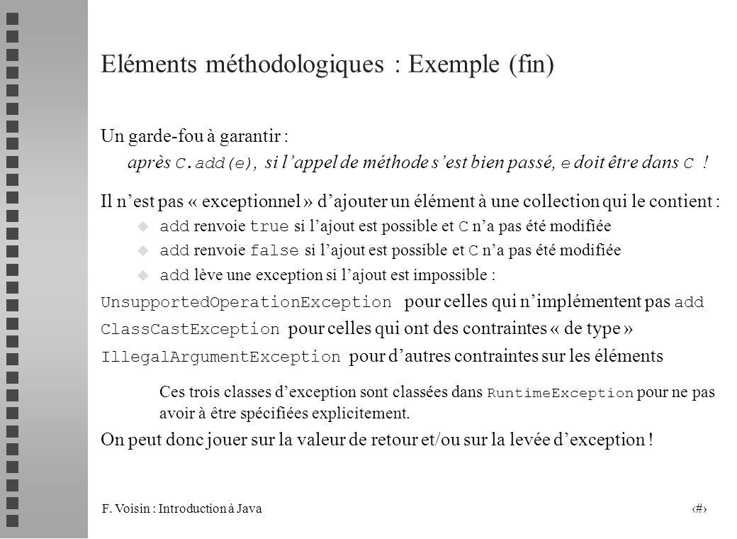 Eléments méthodologiques : Exemple (fin)