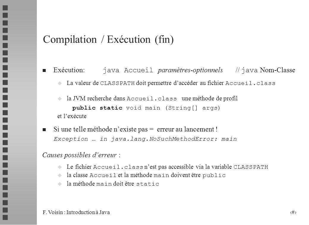 Compilation / Exécution (fin)