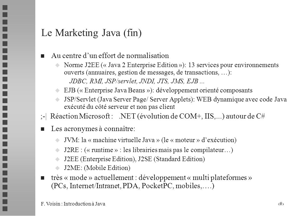 Le Marketing Java (fin)