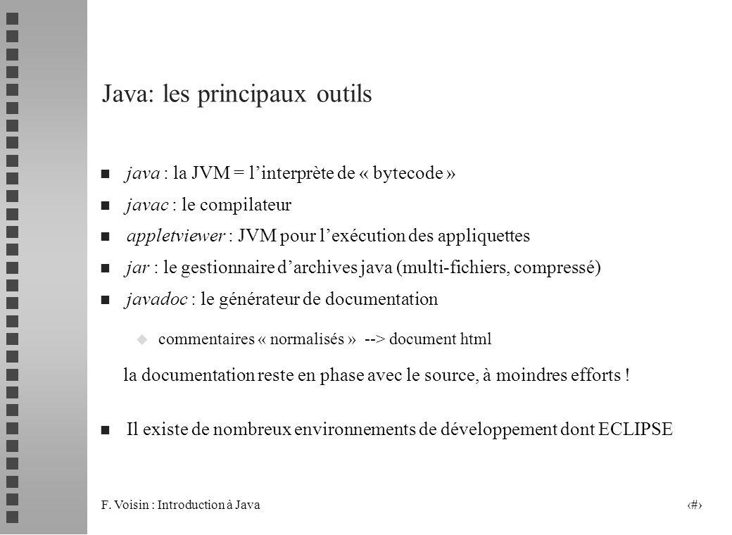 Java: les principaux outils
