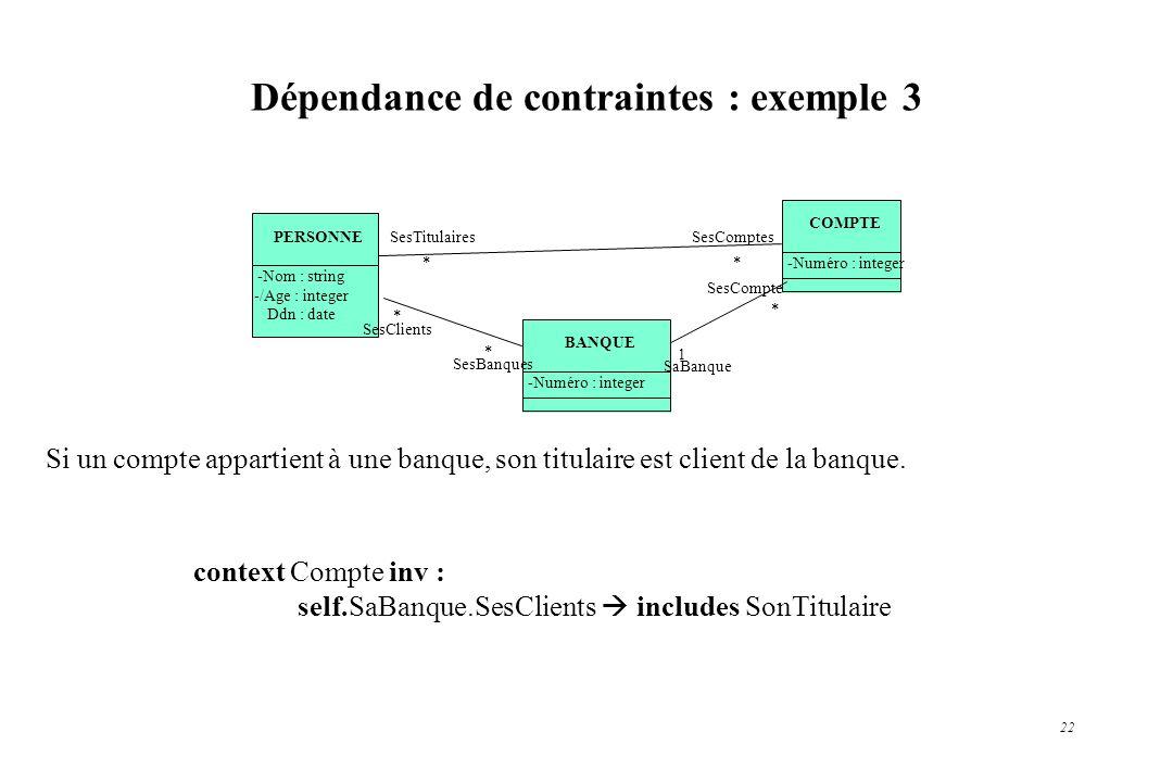 Dépendance de contraintes : exemple 3