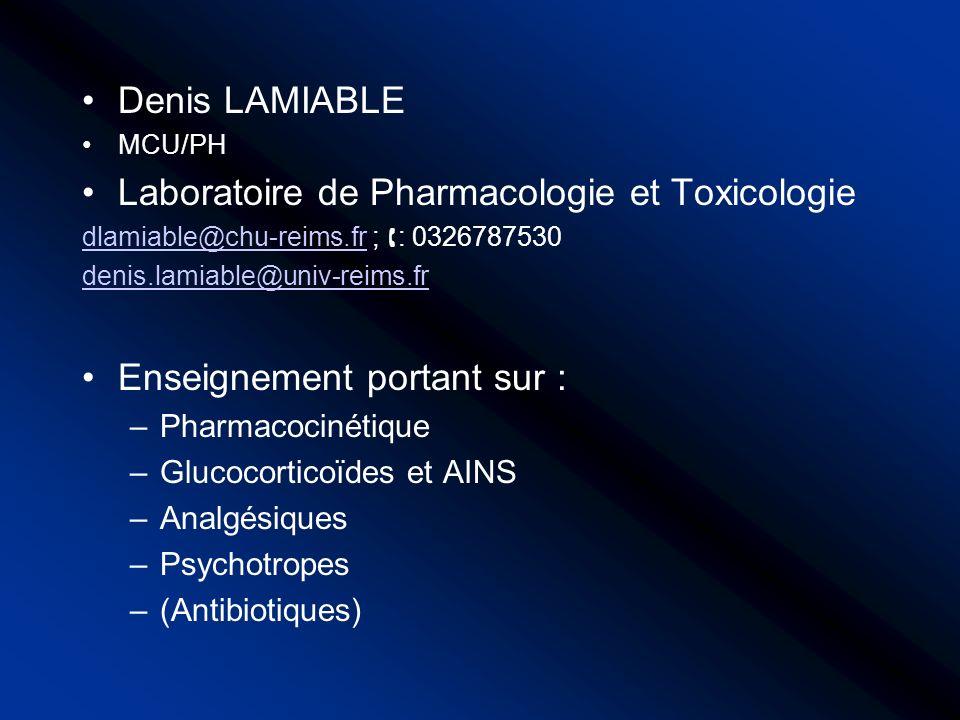 Laboratoire de Pharmacologie et Toxicologie