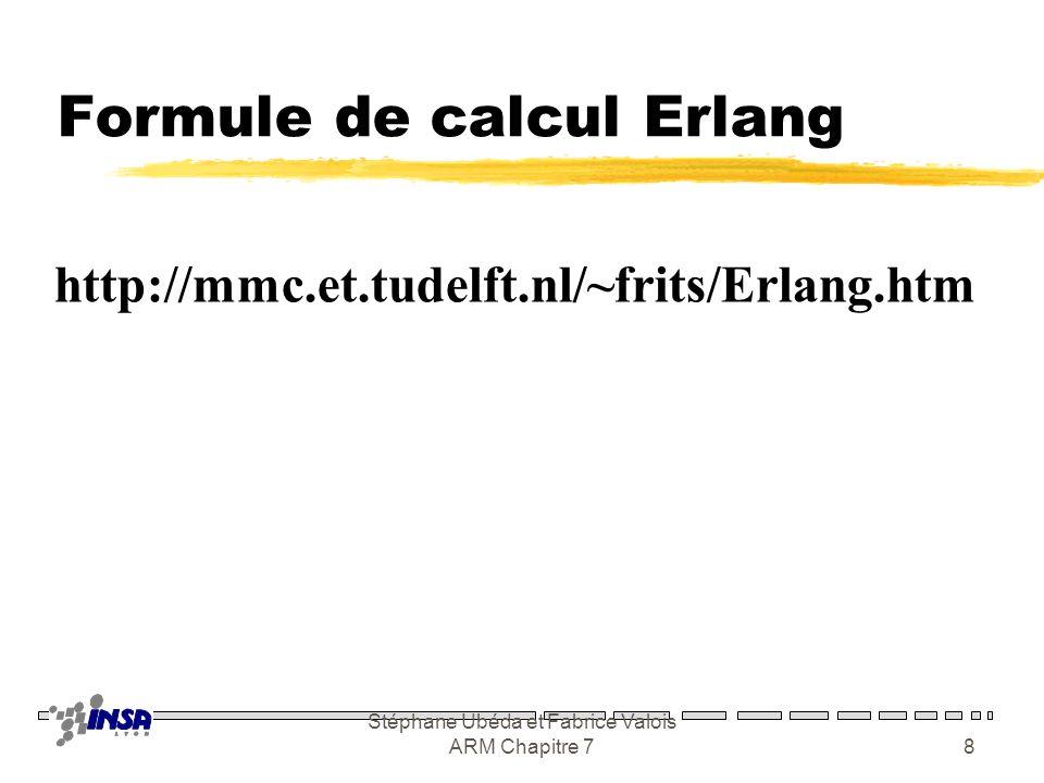 Formule de calcul Erlang
