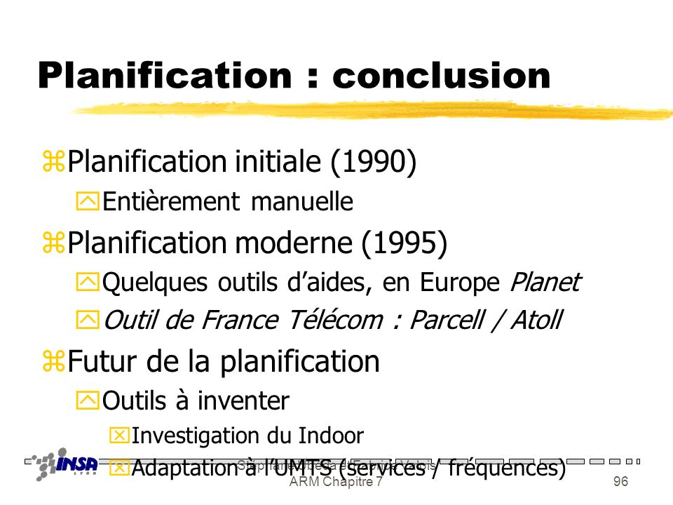 Planification : conclusion
