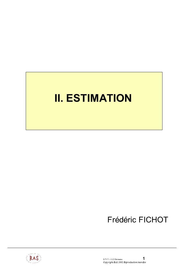 _____________ II. Estimation des projets logiciels Frédéric FICHOT