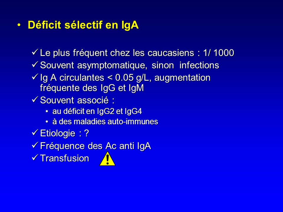 Déficit sélectif en IgA