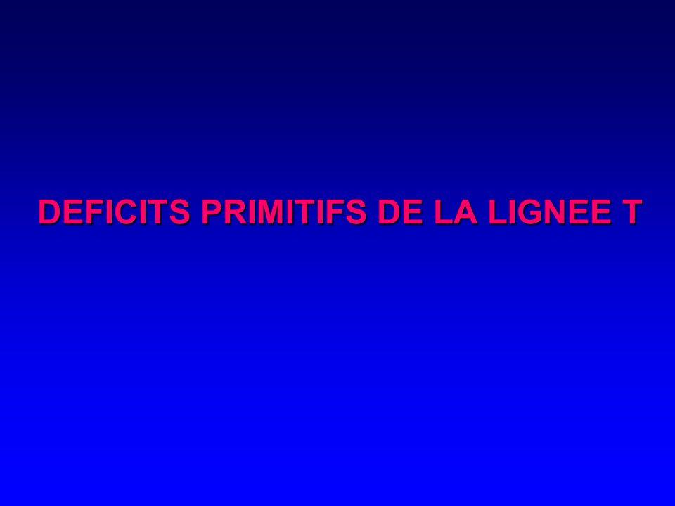DEFICITS PRIMITIFS DE LA LIGNEE T