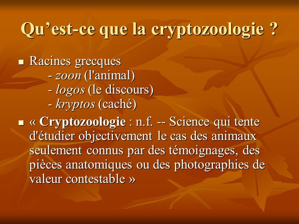 Qu'est-ce que la cryptozoologie