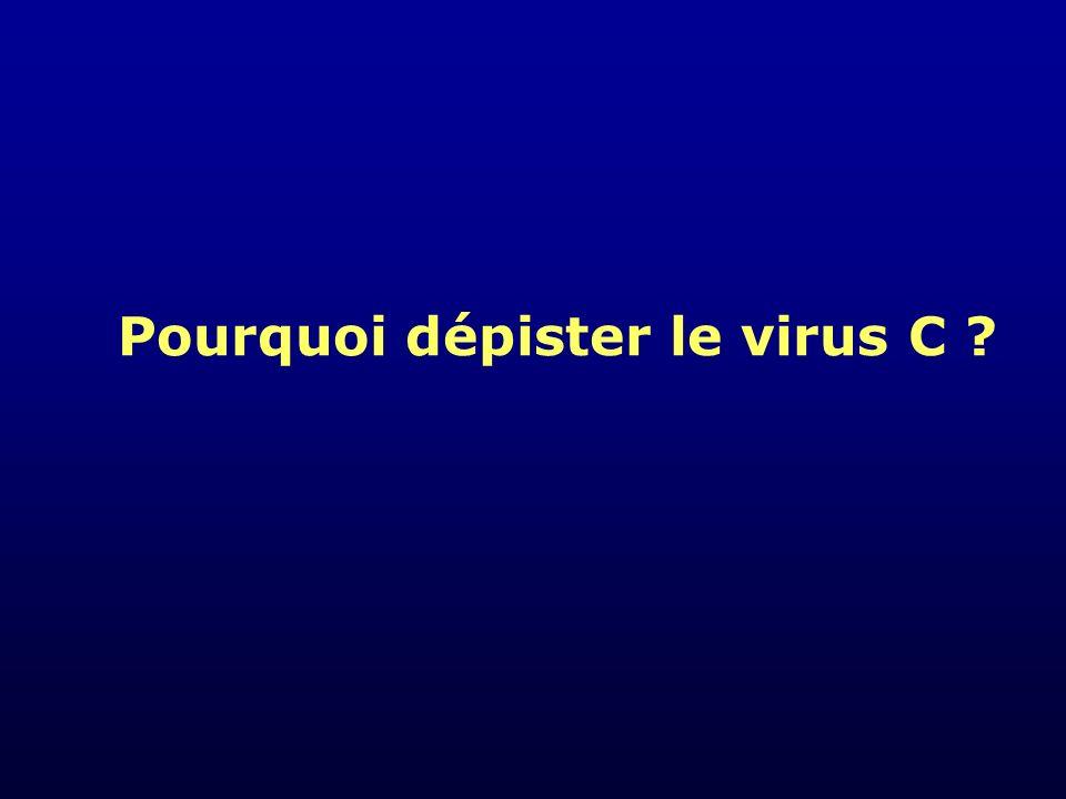 Pourquoi dépister le virus C